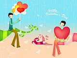 Valentine Couple - Valentine''s Day Art illustrations40 pics